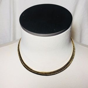 Thick Vintage Gold Chain Choker